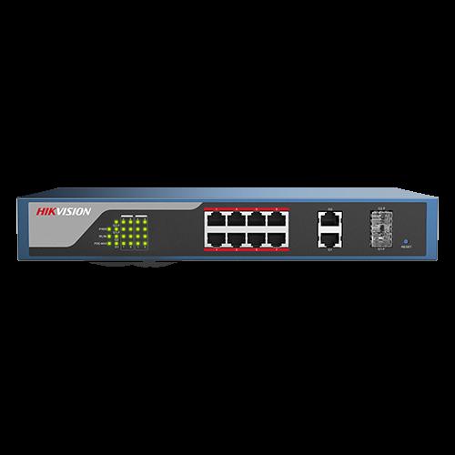 Switch Web-managed 8 porturi PoE, 2 porturi SFP uplink, - HIKVISION DS-3E1310P-E [0]
