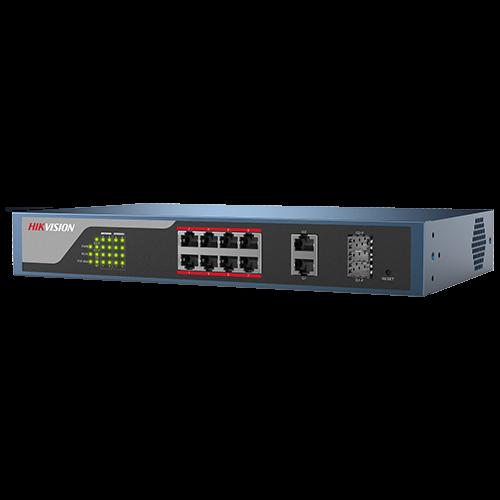 Switch Web-managed 8 porturi PoE, 2 porturi SFP uplink, - HIKVISION DS-3E1310P-E [1]