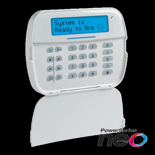 Tastatura LCD alfanumerica + modul wireless , cablata, 128 zone, SERIA NEO - DSC NEO-HS2LCD-RF [0]