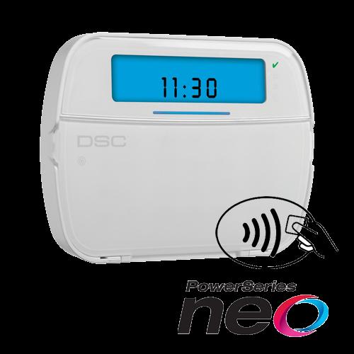 Tastatura LCD cu iconuri, modul wireless si cititor de proximitate, cablata, 128 zone, SERIA NEO - DSC NEO-HS2ICON-RFP [0]