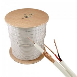 Cablu coaxial RG59 + alimentare 2x0.75, 305m, alb TSY-RG59+2X0.75-W [0]