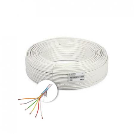 Cablu de alarma 6 fire ecranate, cupru integral, 100m 6CUEF [0]