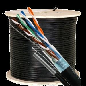 Cablu FTP autoportant, cat 5E, CUPRU 100%, 305m, negru TSY-FTP5E-MESS [1]