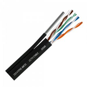 Cablu FTP autoportant, cat 5E, CUPRU 100%, 305m, negru TSY-FTP5E-MESS [0]