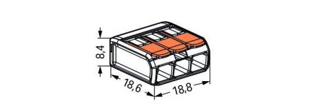 Clema WAGO 3 fire W-221-413-b [1]