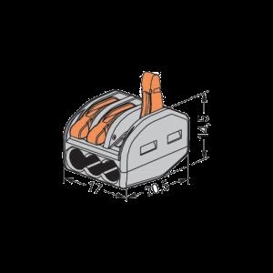 Clema WAGO 3 fire W-413-b [1]