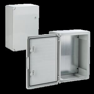 Cutie distributie IP65 din ABS gri, usa mata, placa metalica, 300x400x170 mm PP3004 [0]