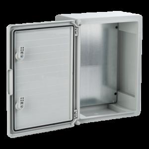 Cutie distributie IP65 din ABS gri, usa mata, placa metalica, 300x400x170 mm PP3004 [1]