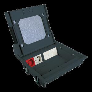 Doza de pardoseala in carcasa plastic - DLX UBS-890-12 [0]