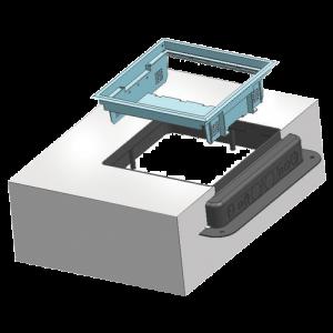 Doza de pardoseala in carcasa plastic - DLX UBS-890-12 [2]