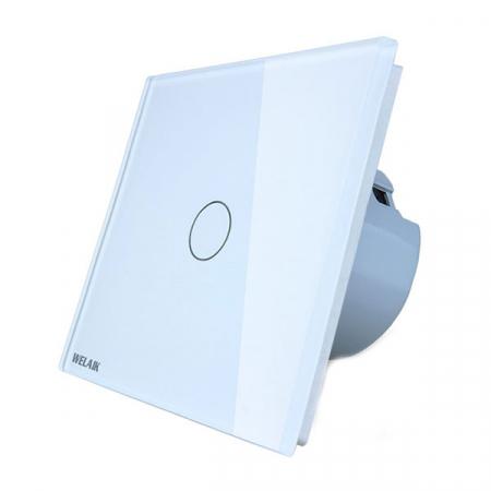 Intrerupator simplu cu touch,alb - Wireless, Telecomanda inclusa - Welaik A1921CG [3]