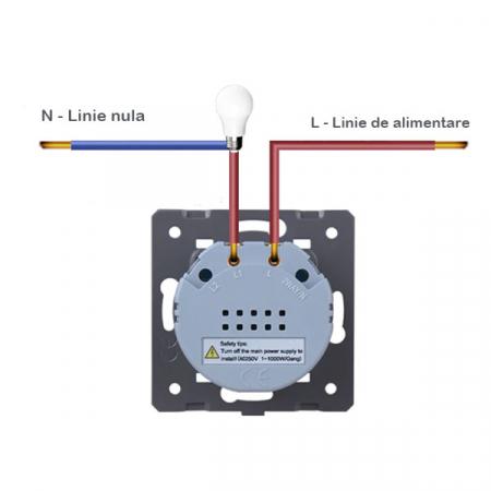 Intrerupator simplu cu touch,gri - Welaik A1911CS [1]