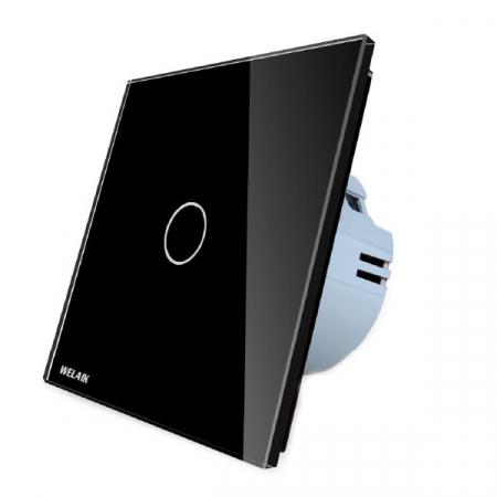 Intrerupator simplu cu touch,negru - Wireless, Telecomanda inclusa - Welaik A1913CBR01 [2]