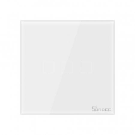 Intrerupator triplu cu touch,alb - WiFi + RF 433 - Sonoff T1EU3C-TX-RF [2]