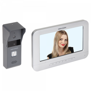Kit videointerfon Hikvision analogic 7'', conectare 4 fire - DS-KIS203 [0]