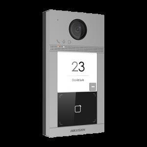 Post videointerfon Hikvision exterior TCP/IP pentru 1 familie, Wi-Fi 2.4GHz, control acces integrat - DS-KV8113-WME1 [0]