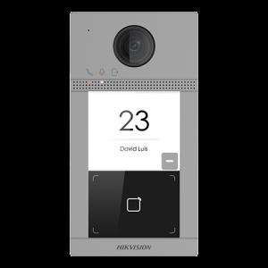 Post videointerfon Hikvision exterior TCP/IP pentru 1 familie, Wi-Fi 2.4GHz, control acces integrat - DS-KV8113-WME1 [1]