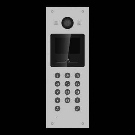 Panou exterior videointerfon TCP/IP pentru blocuri si spatii birouri, control acces card, afisaj LCD- HIKVISION DS-KD3003-E6 [0]