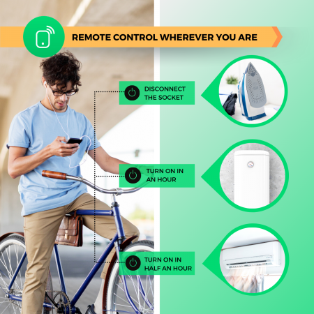 Priza Smart WiFi, Control din aplicatie, 15A - Nous A1 [4]
