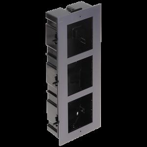 Rama montaj ingropat, 3 module, pentru Interfon modular - HIKVISION DS-KD-ACF3 [0]