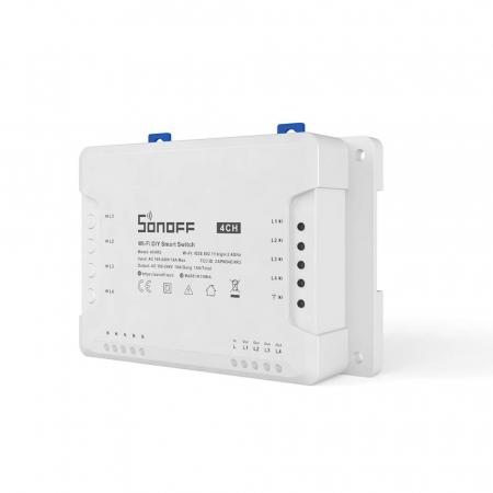 Releu Smart WiFi, Control din aplicatie, 4 canale - Sonoff 4CHR3 [0]