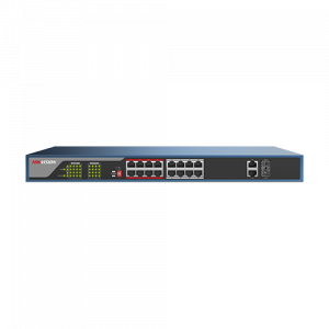 Switch 16 porturi PoE, 2 porturi uplink  - HIKVISION DS-3E0318P-E [0]