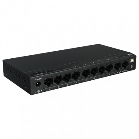 Switch 8 porturi PoE, 2 port uplink, 120W - UTEPO SF10P-FHM [0]