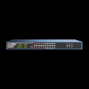 Switch Web-managed 16 porturi PoE, 2 porturi SFP uplink, - HIKVISION DS-3E1318P-E [0]
