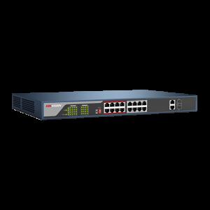 Switch Web-managed 16 porturi PoE, 2 porturi SFP uplink, - HIKVISION DS-3E1318P-E [1]