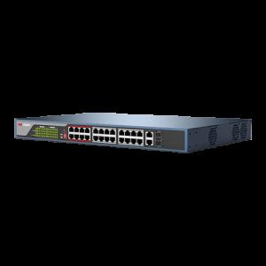 Switch Web-managed 24 porturi PoE, 2 porturi SFP uplink, - HIKVISION DS-3E1326P-E [1]