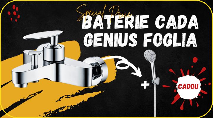 Baterie cada inox, Genius Foglia + cadou para dus
