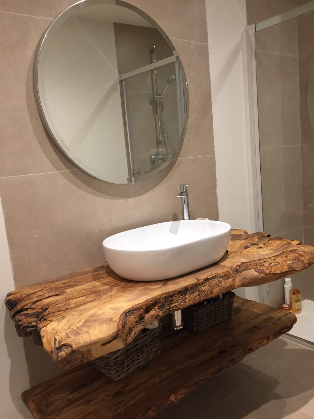 Blat stejar masiv pentru baie la comanda
