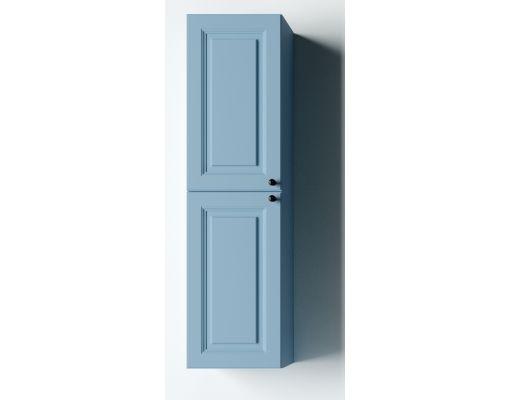 Mobilier baie albastru din lemn masiv tei opac 2