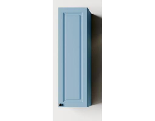Mobilier baie albastru din lemn masiv tei opac si blat solid surface 2