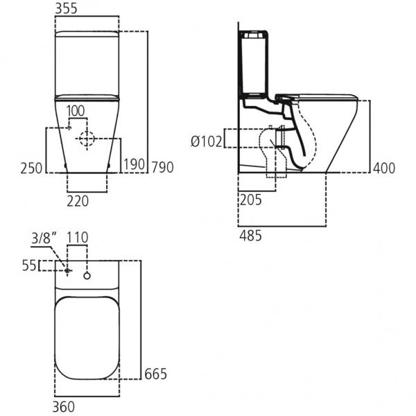 Vas wc cu capac Tonic II Duobloc 1