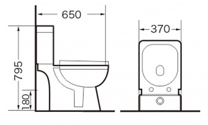Vas wc Duobloc cu rezervor si capac Soft Close inclus, Cimberly, Dalet [8]