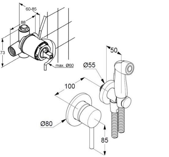 Sistem de dus igienic pentru bideu [2]