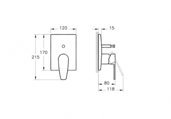 Baterie dus crom Vitra Q-line [1]