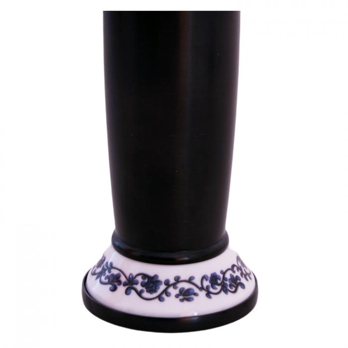 Baterie lavoar Foglia 32 cm cu ceramica, culoare negru, brat mobil [4]