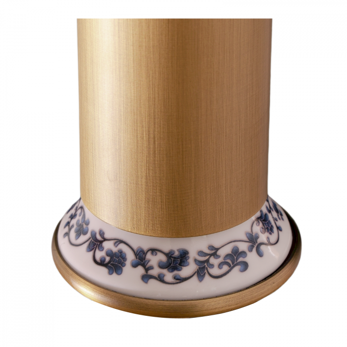 Baterie lavoar retro Foglia 32 cm cu ceramica, culoare antichizata, brat mobil [4]