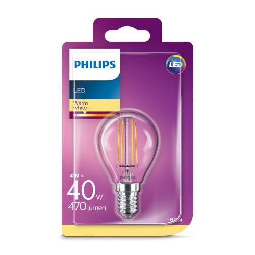 Bec led Philips lustra, E14, 40W, 470 lumeni, Classic [0]