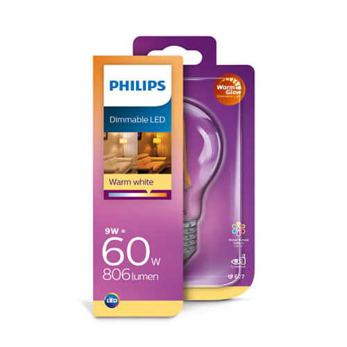Bec led Philips, E27, 60W, 806 lumeni, Classic [0]