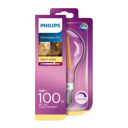 Bec led lumina calda Philips, E27, 100W, 1521 lumeni, Classic [0]