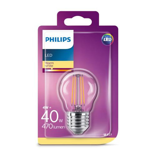 Bec led Philips lustra, E27, 40W, 470 lumeni, Classic [0]