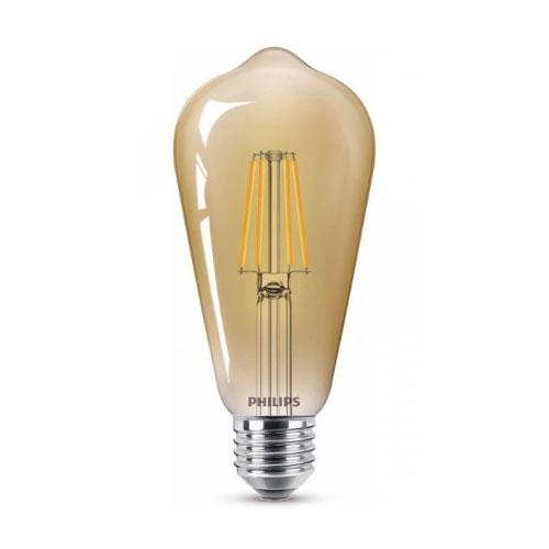 Bec led vintage Philips, E27, 48W, 600 lumeni, Filament Classic [0]
