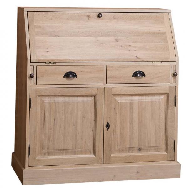 Birou clasic din lemn cu blat masa incorporat 0