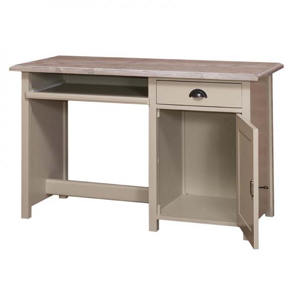 Birou clasic din lemn masiv cu un sertar si o usa 1
