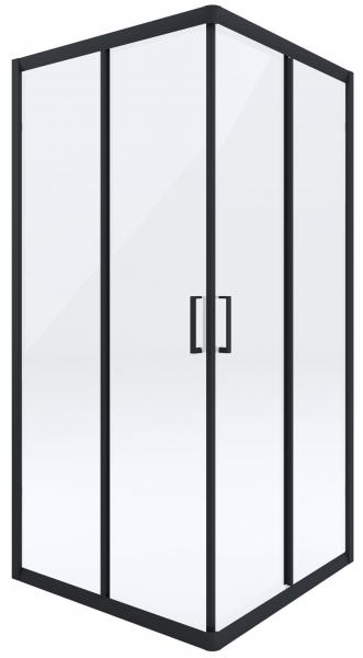Cabina de dus patrata neagra cu usi culisante Funkia [0]