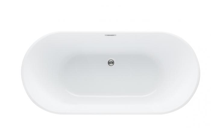 Cada baie freestanding ovala 170x80 cm cu preaplin Fibrex, OSLO [2]
