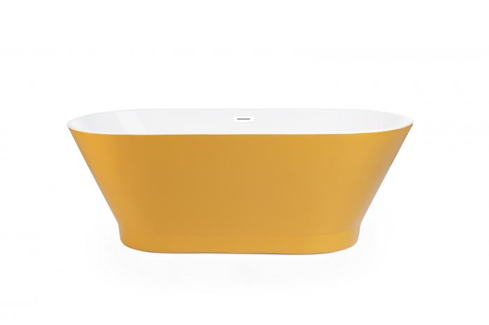 Cada baie freestanding ovala 170x80 cm cu preaplin Fibrex, OSLO [4]